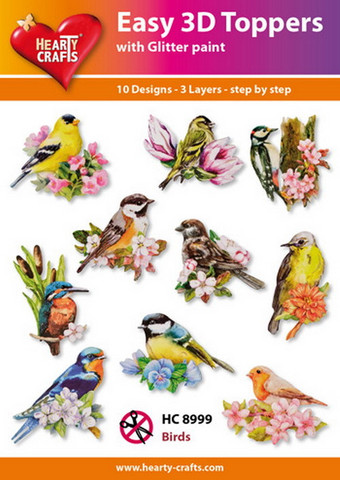 Hearty Crafts stanssatut 3d-kuvat linnut Birds