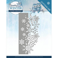 Yvonne Creations stanssi Sparkling Winter Sparkling Border