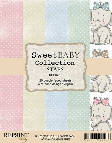 Reprint Sweet Baby Stars Collection paperikko 6x6