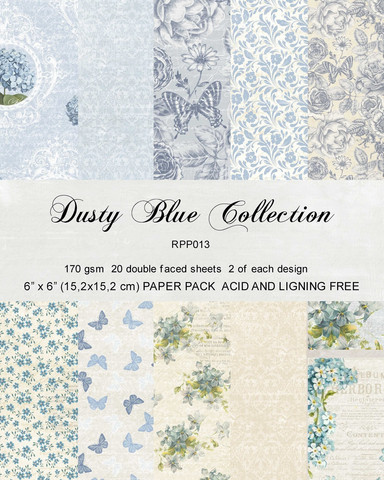 Reprint Dusty Blue Collection paperikko 6x6