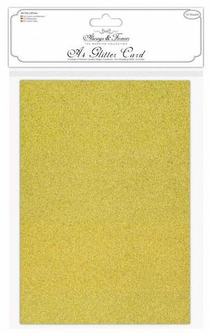 Craft Consortium kimallekartonki A4 Gold 10kpl  (AFGCRD002)