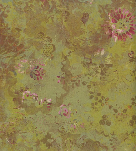 K&Company paperi BW Madeline Aged Floral 12x12