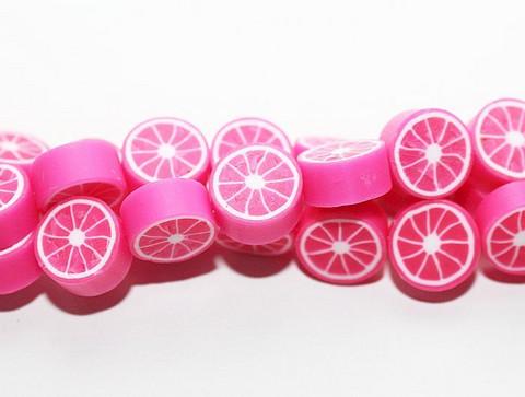 Fimohelmet sitrus pinkki 10mmx4mm 28kpl