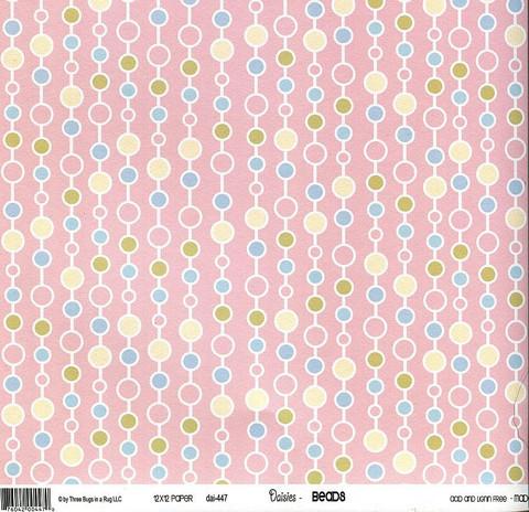 Skräppäyspaperi 3 Bugs in a rug , Daisies Beads 30,5x30,5cm