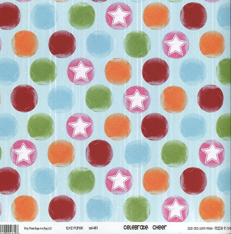 Skräppäyspaperi 3 Bugs in a rug , Celebrate Cheer 30,5x30,5cm