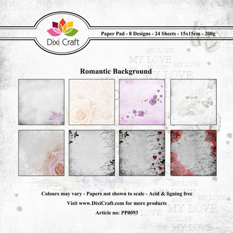 Dixi Craft paperikko Romantic Background 6x6