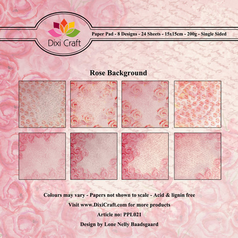 Dixi Craft paperikko Rose Background 6x6