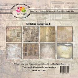 Dixi Craft paperikko Nostalgia  Background 1 6x6