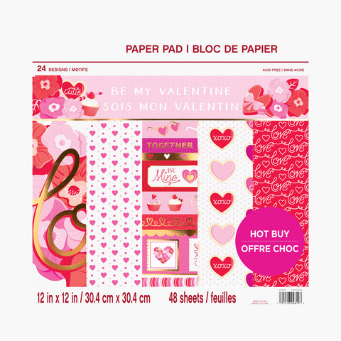 Craft Smart paperikko Be My Valentine 12x12