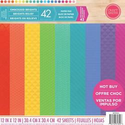 Craft Smith kohokuvioitu kartonkipakkaus Brights 12x12