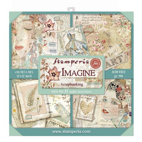Stamperia paperilehtiö Imagine 12x12