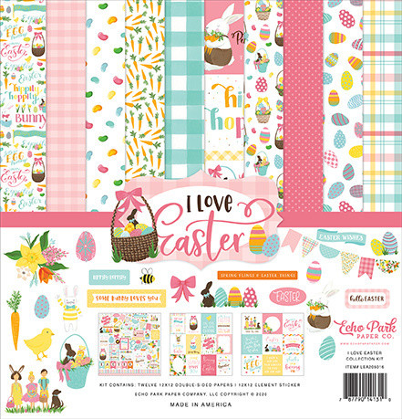 Echo Park I Love Easter paperipakkaus Collection kit 12x12