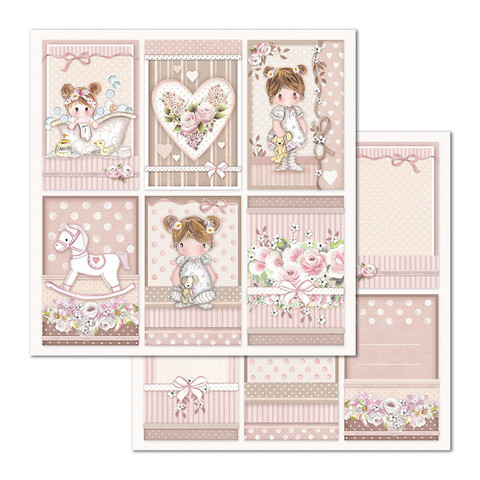 Stamperia korttikuvat Little Girl Frames 12x12