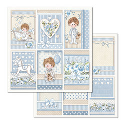 Stamperia korttikuvat Little Boy Frames 12x12