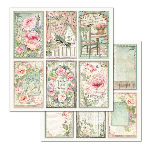Stamperia korttikuvat House of Roses Frames 12x12