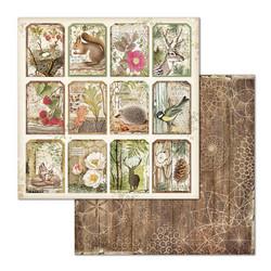 Stamperia korttikuvat Forest Tag 12x12