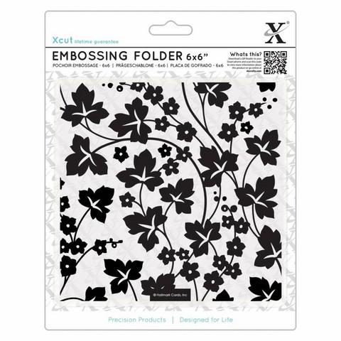 Kohokuviointitasku neliö Flowers & Ivy Xcut 15,2x15,2cm