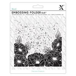 Kohokuviointitasku neliö Full Bloom Roses Xcut 15,2x15,2cm