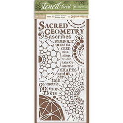 Stamperia sabluuna Sacred Geometry 12x25cm
