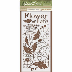 Stamperia sabluuna Flower of Life 12x25cm