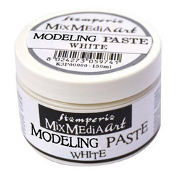 Stamperia Modeling Paste White valkoinen 150ml