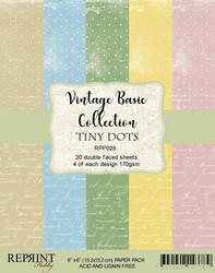 Reprint Vintage Basics Tiny Dots paperikko 6x6