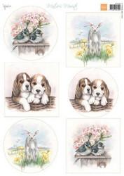 Marianne Design korttikuvat kevät eläimet a4