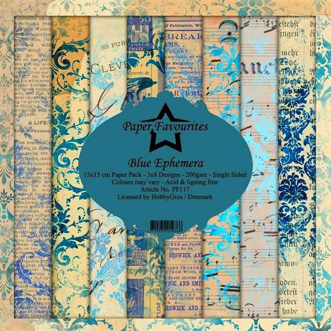 HG paperikko Blue Ephemera  6x6