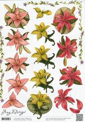 3d-kuvat kauniit liljankukat Amy Design a4