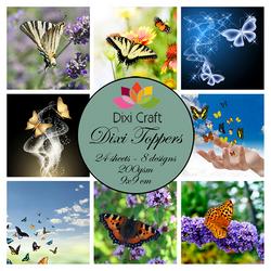 Dixi Craft korttikuvat kesä perhoset