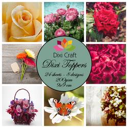 Dixi Craft korttikuvat kauniita kukkia