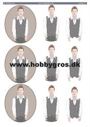 HG 3D-korttikuvat ruskeahiuksiset pojat a4