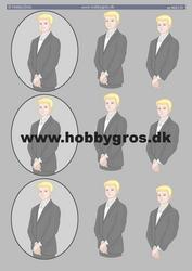 HG 3D-korttikuvat vaaleahiuksiset pojat a4