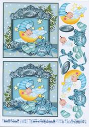 Barto Design 3D-korttikuvat poikavauva ja kuu