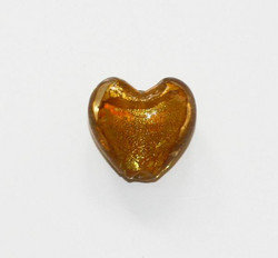 Sydänfoliolamppuhelmi 20mm Topaasi 1kpl