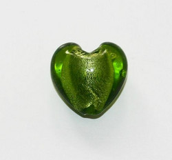 Sydänfoliolamppuhelmi 20mm Keväänvihreä 1kpl