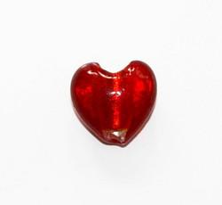 Sydänfoliolamppuhelmi 20mm Punainen 1kpl