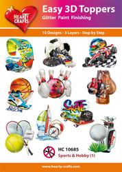 Hearty Crafts stanssatut 3d-kuvat harrastuksia1 10kpl