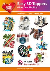 Hearty Crafts stanssatut 3d-kuvat harrastuksia2 10kpl