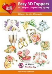 Hearty Crafts stanssatut 3d-kuvat  Wedding Day 10kpl