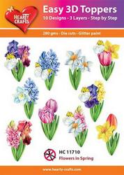 Hearty Crafts stanssatut 3d-kuvat Kevätkukat 10kpl