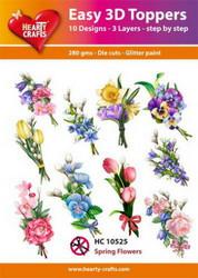 Hearty Crafts stanssatut 3d-kuvat kevätkukat ja pajunkissat 10kpl