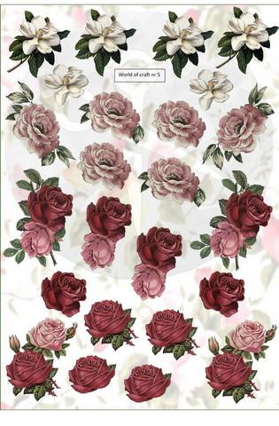 Helmiäishohtoiset korttikuvat pikku kukat nr5