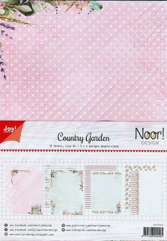 Joy Craft Country Garden paperisetti 12kpl a4