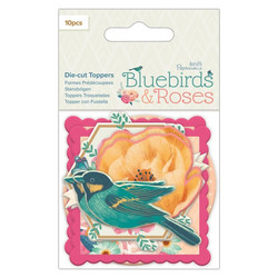 Papermania leikekuvat die-cut toppers Bluebirds & Roses 10kpl