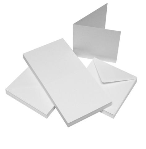 Craft UK Neliökorttipohjat ja kirjekuoret 4x4 50kpl VALKOINEN