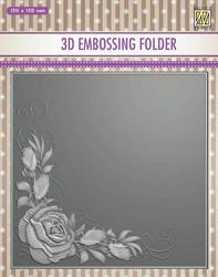 Kohokuviointitasku Rose Corner Nellie´s Choice EF3D012 150x150mm