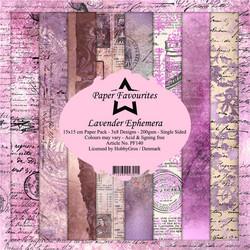 HG paperikko Lavender Ephemera 6x6