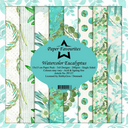 HG paperikko Watercolor Eucalyptus 6x6