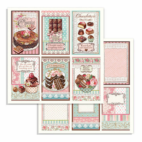 Stamperia korttikuvat Chocolate Cards  12x12
